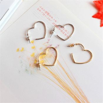 Act the role ofing is tasted Contracted joker temperament gold silver Love the earrings  Peach heart fashion earrin Exquisite 2