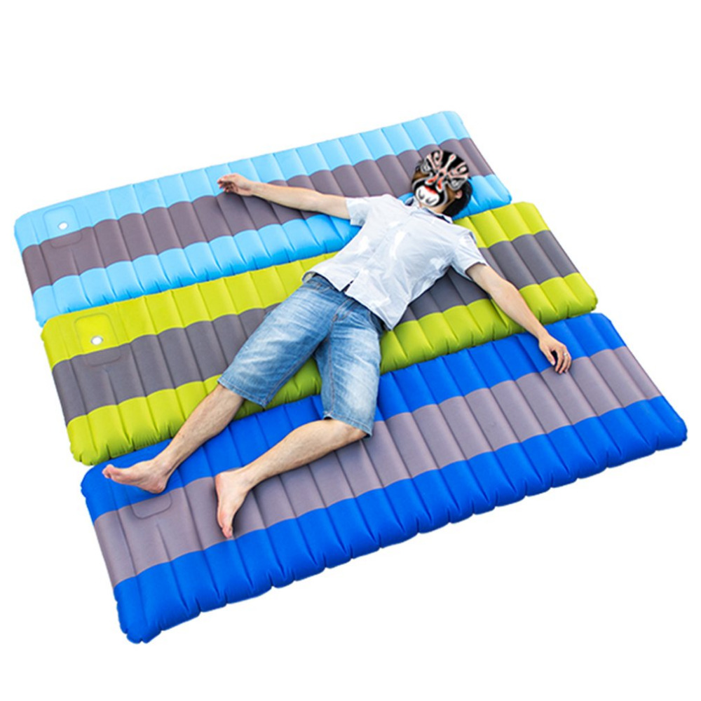 185*65*12cm Inflatable Single Person Outdoor Air Mattress Folding Sleeping Bed Moistureproof Camping Tent Travel Sleeping Mat durable thicken pvc car travel inflatable bed automotive air mattress camping mat with air pump