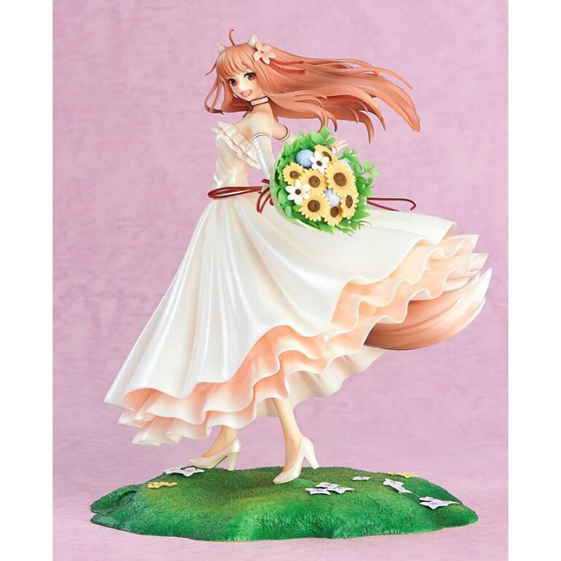 Holo Spice and Wolf wedding dress action anime 1/8 scale collection figure painted model figures toy gift with box 20cm figurine japanese anime spice and wolf holo pvc action figures sexy girl model toys gift