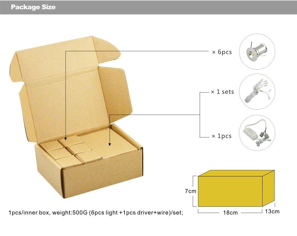 Тегін жүк тасымалдау 6pcs / lot dimmable 4w mini - LED Жарықтандыру - фото 6
