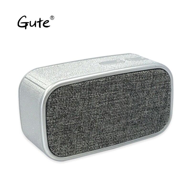 Gute moda tela arte altavoz Bluetooth portable cuadrada mango woofer radio inalámbrico caixa de som alto falante altavoz s5 ventilador