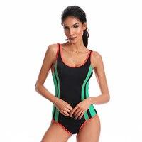 Women Professional Sport One Piece Swimsuit 2018 Swimwear Bathing Suit Brazilian Sport Beachwear Athletic Training Trikini