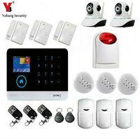 YobangSecurity WiFi 3G WCDMA CDMA GPRS Smart Home Inturder Burglar Alarm System Wireless IP Camera Flash
