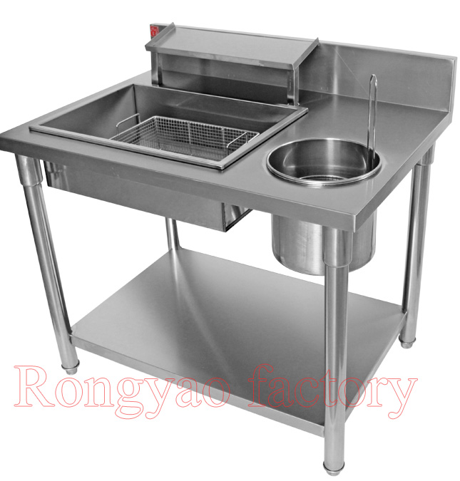 RY-1000C wrapped powder table fried chicken Hamburg equipment stainless steel manually detachableRY-1000C wrapped powder table fried chicken Hamburg equipment stainless steel manually detachable