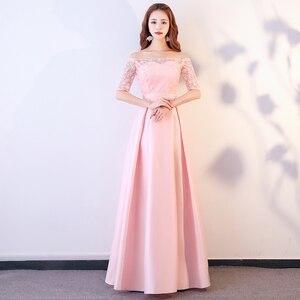 Image 4 - XBQS1107 # תחרה עד אפרסק ורוד סגנונות של ארוך בינוני וקצר שושבינה שמלות חתונת מפלגה לנשף שמלת 2019 סיטונאי בגדים