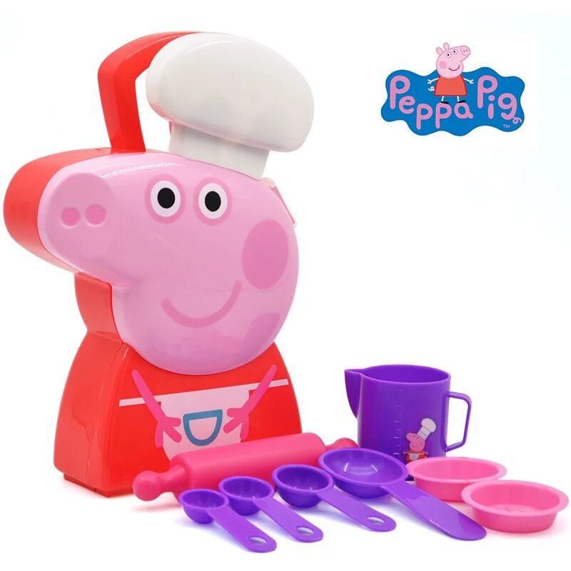 Hot sale Genuine PEPPA PIG peppa's baking carry case Scene simulation series kids best toy birthday Christmas gift 1pc