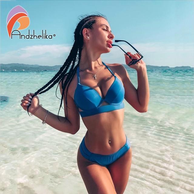 Andzhelika Bikini Set in Solid Colors or Leopard Print 5