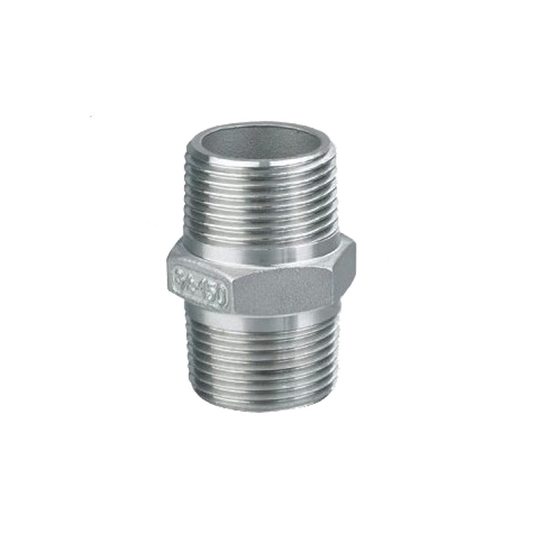 Male To Male Hex Nipple Threaded Reducer Pipe Fitting Stainless Steel 304 DN6 DN8 DN10 DN15 DN20 DN25 DN32 DN50