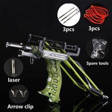 Laser Slingshot High Velocity Elastic Hunting Fishing Shooting Catapult Bow Arrow Rest Sling Shot Crossbow Bolt