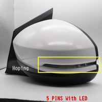 Left Right Outer Rearview Side Mirror For HONDA CITY 2015 2016 2017 2018 3PINS Without LED / 5PINS With LED Light Base Color