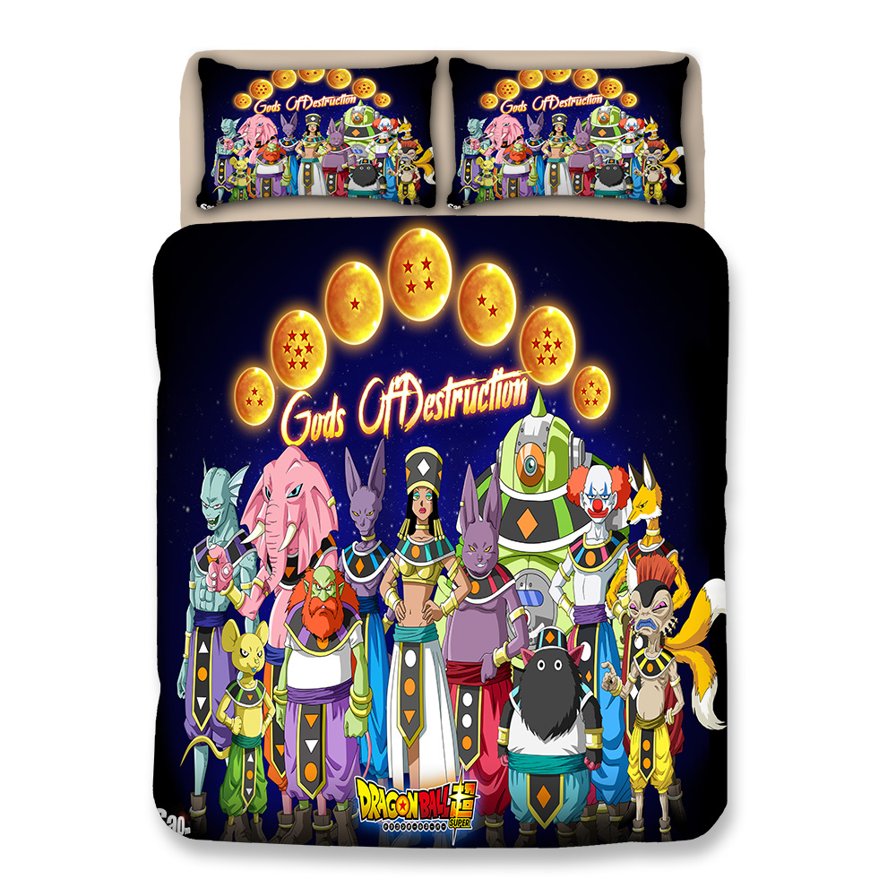 Japanese Anime Bedding Queen King Single Double Size Duvet Cover Pillow Case for Teens Adult quilt cover dragonball bedclothesJapanese Anime Bedding Queen King Single Double Size Duvet Cover Pillow Case for Teens Adult quilt cover dragonball bedclothes