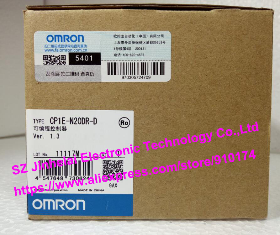 New and original CP1E-N20DR-D  OMRON  PLC controller dhl eub 2pcs original for omron plc cp1e e10dt d new 15 18