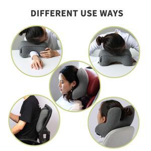 Image 5 - Hot Memory Foam Travel Pillow For Neck Ergonomic Neck Pillow For Traveling On Airplane Desk Pillow Stomach Sleeper Grey