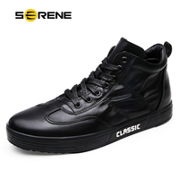 SERENE Brand Men's Winter Shoes Male Boot Warm Fur Classic Casual Snow Bot Man Waterproof Sneakers Mens Ankle Leather Boots Men