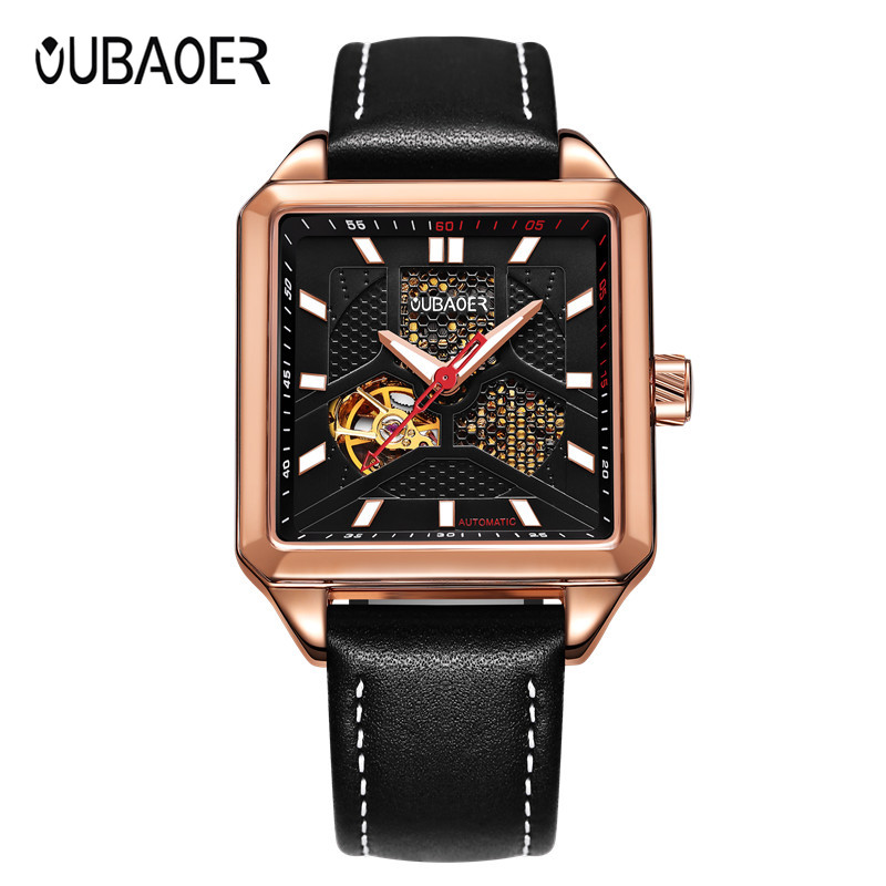 OUBAOER Men Watches Top Brand Luxury Automatic Mechanical Watch Men Army Military Watches Male Clock Business Wristwatch oubaoer fashion top brand luxury men s watches men casual military business clock male clocks sport mechanical wrist watch men