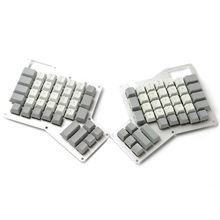 YMDK Cherry Profile Thick PBT Top Print Ergodox Keycap Set For Ergo Ergodox Keyboard Free Shipping