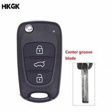 все цены на 3 Buttons Flip Folding Remote Car Key Shell Cover Case for Hyundai Solaris Accent Tucson l10 l20 l30 Kia Rio Ceed Flip Case онлайн