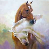 The New Diamond Painting DIY Horse Square Drilling Full Fiamonds Embroidery Made Hand Living Room Decoration