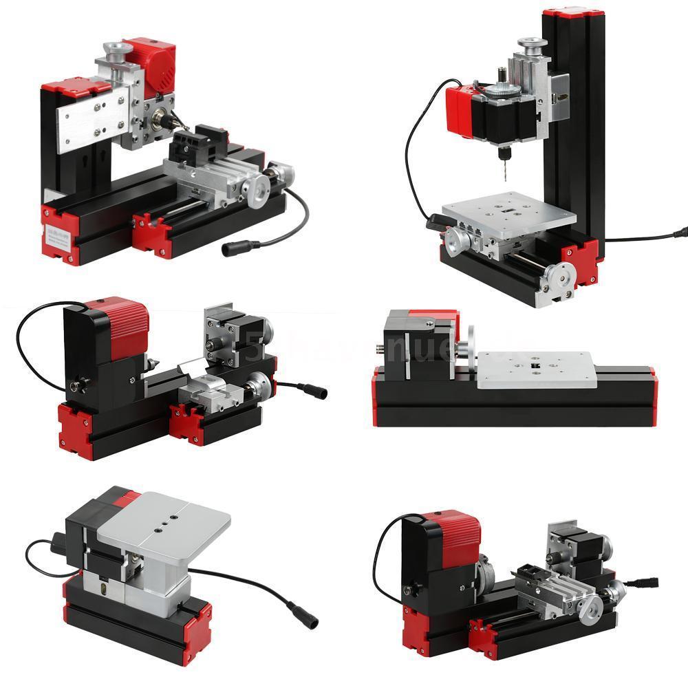 Bricolage perceuse Mini tour Machine Mini Torno motorisé gabarit-scie meuleuse foreuse CNC de fraisage combiné Machine bricolage outil travail du bois
