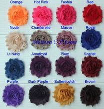 "Free USA ePacket/CPAP 50y 67 colors 2.5"" shabby chiffon rose flower trim for making headbands hair bow scrap-booking shoe clothe"