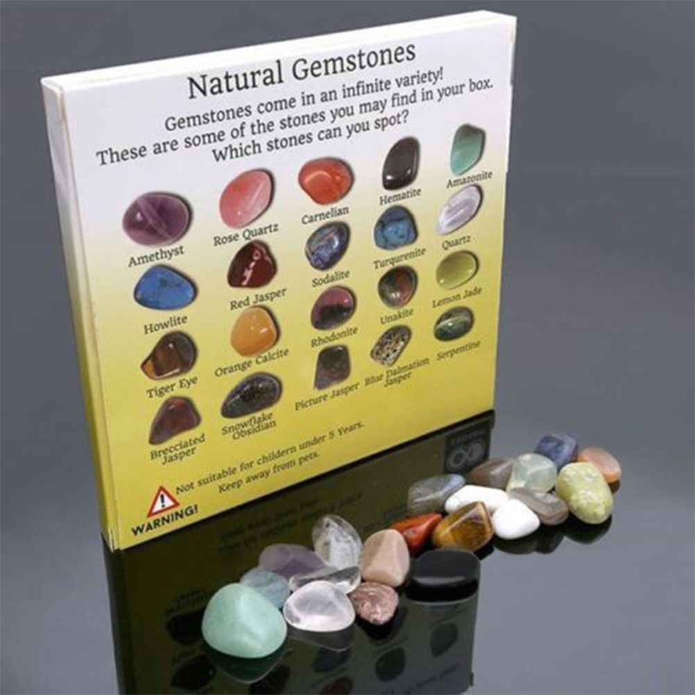 20pcs Natural Crystal Gemstone Polished Healing Chakra Stone Collection Popular Stones Decoration Crafts