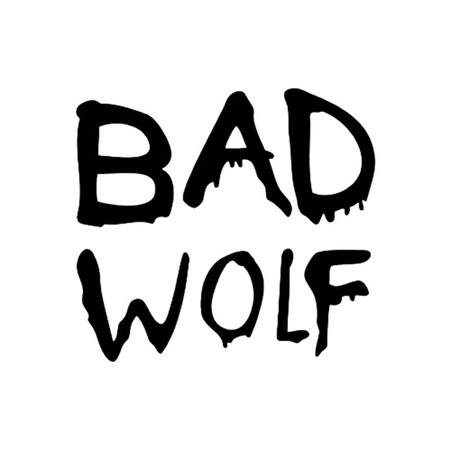 12 7 11 6cm bad wolf cool word vinyl car styling decal stickers car