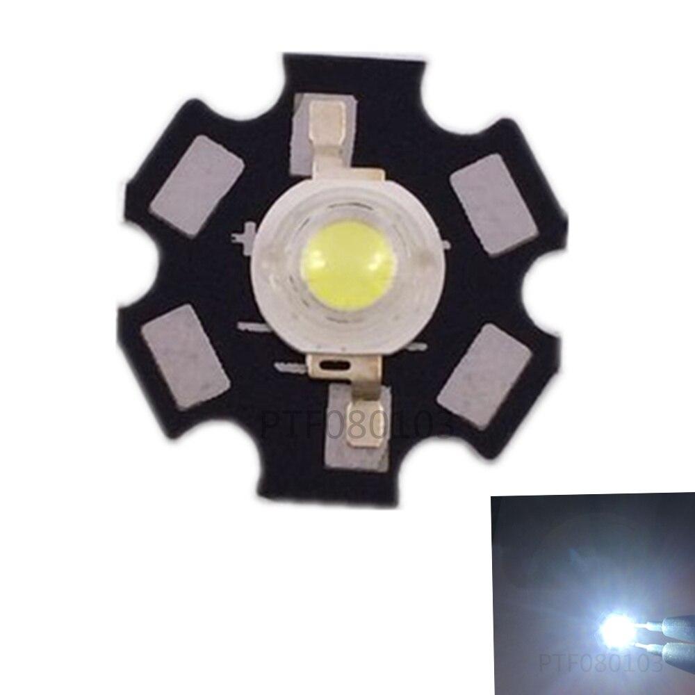 10pcs 3W Neutral White 4000K - 4500k High Power LED Light Emitter Diode Chip Epileds 42Mil With 20mm Aluminum PCB