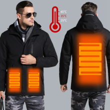 Мужские и женские зимние толстые хлопковые куртки с USB подогревом, водонепроницаемая ветровка для походов, скалолазания, лыжного спорта