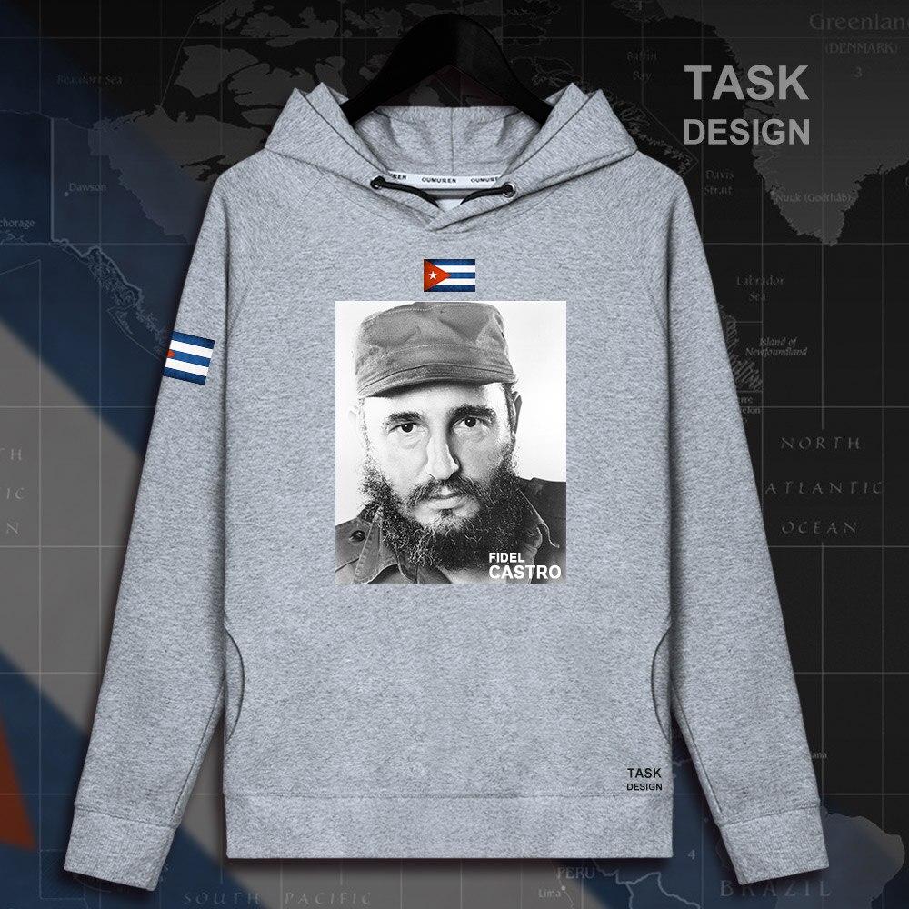 Fidel Castro pullovers hoodies President of Cuba hoodie men sweatshirt polo sweat hip hop streetwear tracksuit 2018 souvenir 04