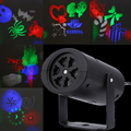 New Genaration Projector Lamps LED Stage Light Heart snow spider bowknot bat For Halloween Christmas Wedding Family Party