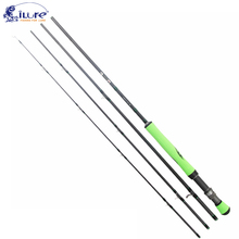 iLure 2017 new fly rod carbon fast action fly fishing rod with cordura pipe 4 section Fishing Rod Spinning & Baitcasting Rod