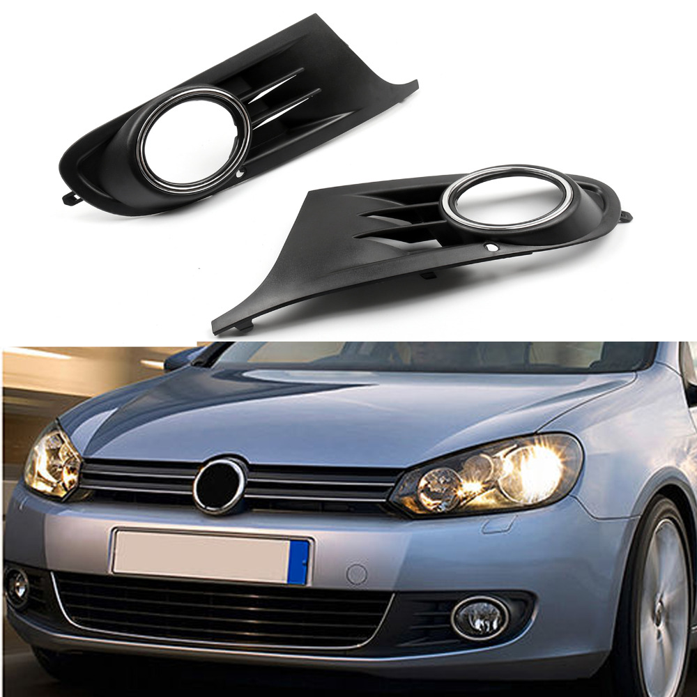 Areyourshop Car Open Vent Fog Light Grille Grill Covers for Jetta Sportwagen <font><b>Golf</b></font> <font><b>MK6</b></font> <font><b>TDI</b></font> TSI 2010 2011 2012 2013 2014 Car Parts image