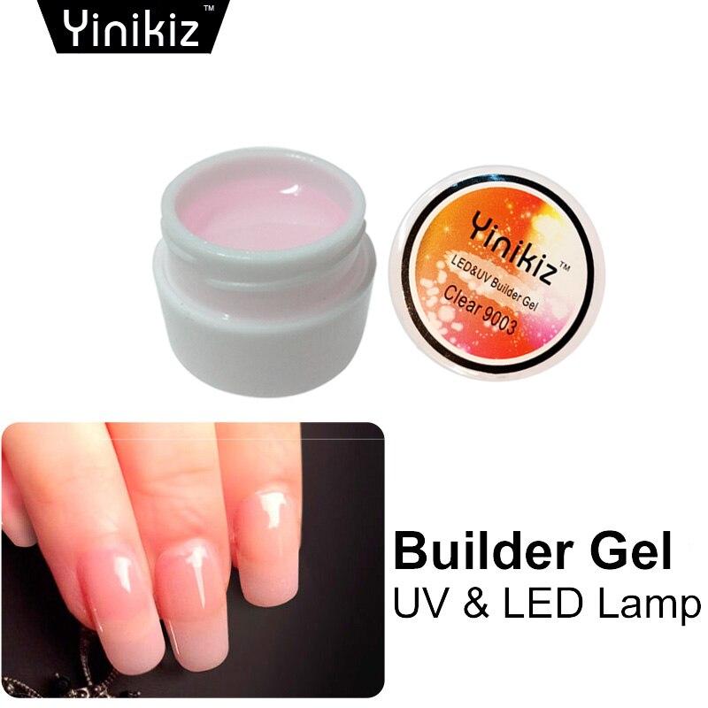 Yinikiz 3 Colors White Pink Clear Transparent Uv Builder