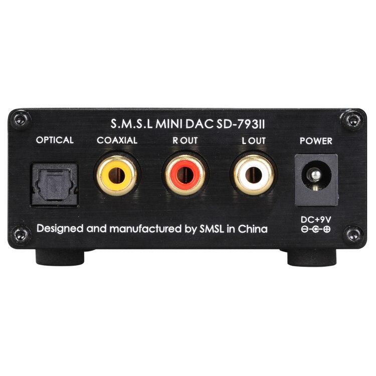 SMSL SD793-II MINI HIFI Headphone Amplifier PCM1793 DIR9001 DAC Digital Audio Decoder Amplifier Optical Coaxial Input 24BIT smsl sd 793ii dir9001 pcm1793 opa2134 coaxial optical mini dac headphone amp black color