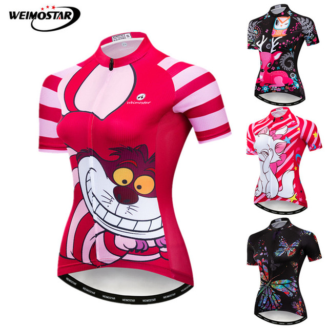 Weimostar Various Funny Cycling Jersey Women Summer MTB Bike Jersey Maillot  Ciclismo Quick Dry Cycling Wear Bicycle Jersey Shirt afcae2d15
