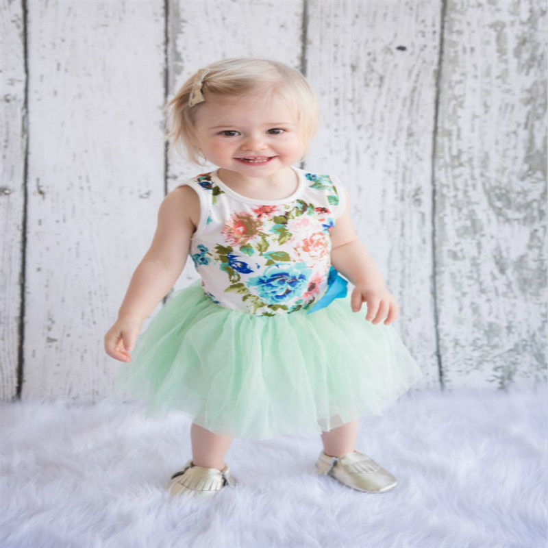 Kid Girls Princess Baby Dress Newborn Infant Baby Girl Clothes Tutu Ball Gown Party Dresses Baby Kid Girl Clothes