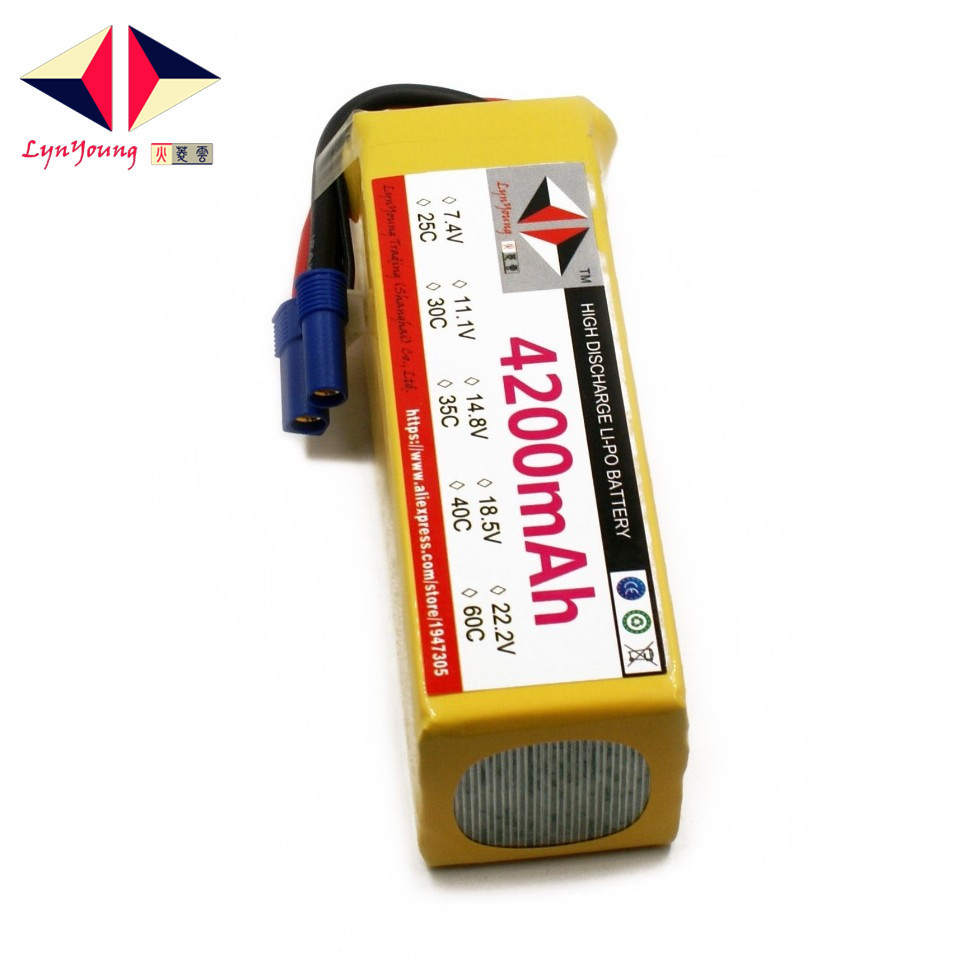 LYNYOUNG RC lipo Battery 5S 18.5V 4200mAh 35C Max 70C for Helicopter Quadcopter Airplane Car boat truck