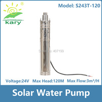 120m lift 24v 36v DC submersible solar water pump, 0.5 hp 1 hp 2 hp deep well solar powered water pump with internal controller