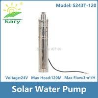 Kary 120m Lift 24 Volt DC Solar Bore Pump Stainless Steel Solar Water Pump For Deep
