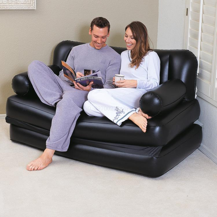 Couches Air-Sofa Living-Room-Furniture Foldable Airbed-Mattress/mat PVC For 2-In-1 Dual-Use