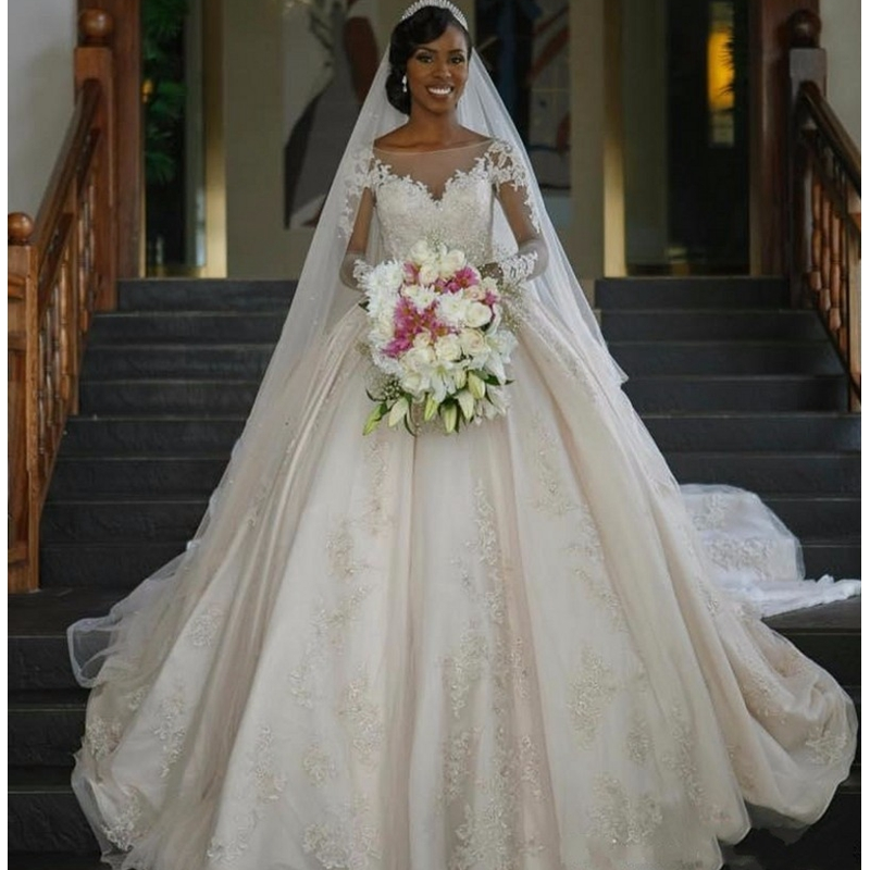 2017 New Vintage Dress for Black Women Ball Gown Wedding ...