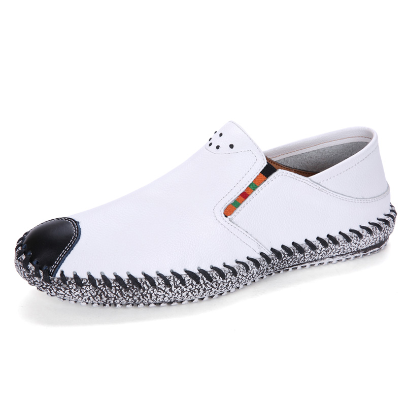 2018 Fashion Men Casual PU Leather Moccasins Men Loafers Shoes Spring Summer Breathable Chaussure Homme Flat Casual Shoes summer leopard men shoes casual leather espadrilles flat loafers 2017 fashion spring vintage wedding oxford shoes