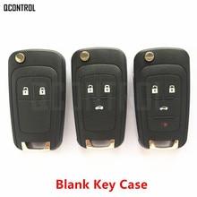 QCONTROL Car Remote Key Case for Chevrolet Malibu Cruze Aveo Spark Sail 2/3/4 Buttons