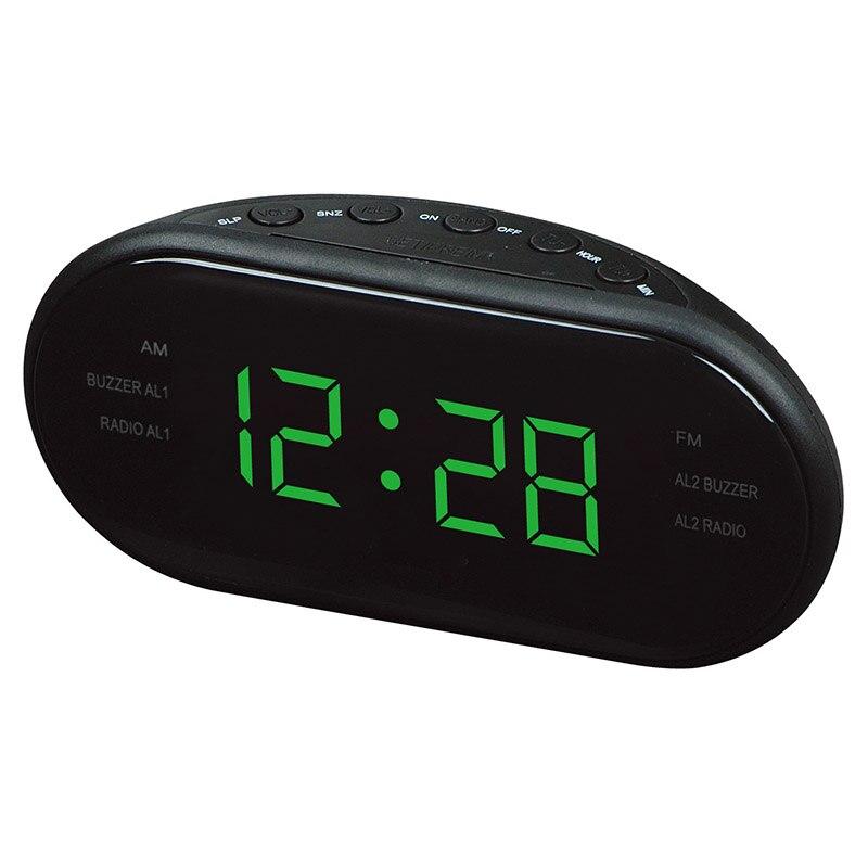 EAAGD LED Digital Alarm Clock AM/FM Radio with Dual Alarms Sleep & Snooze Function Outlet Powered Big Digit Display