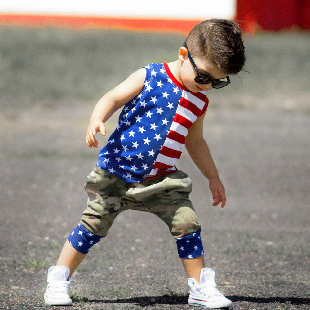 a81942e2b8fc2 Seartist Baby Boys Girls July 4th Clothing Sets 4th of July Clothes ...
