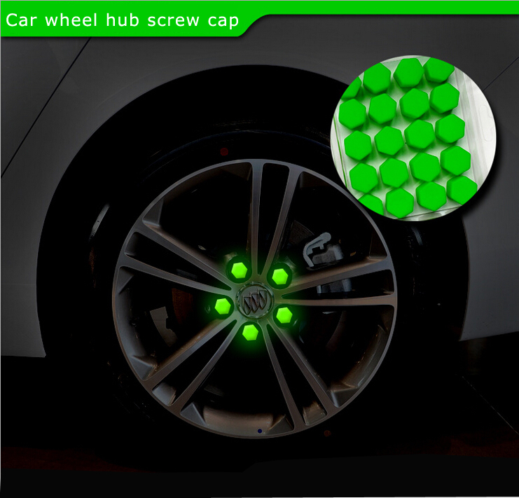 hottest car styling free shipping 20pcs silica gel green wheel nuts covers protective bolt caps. Black Bedroom Furniture Sets. Home Design Ideas