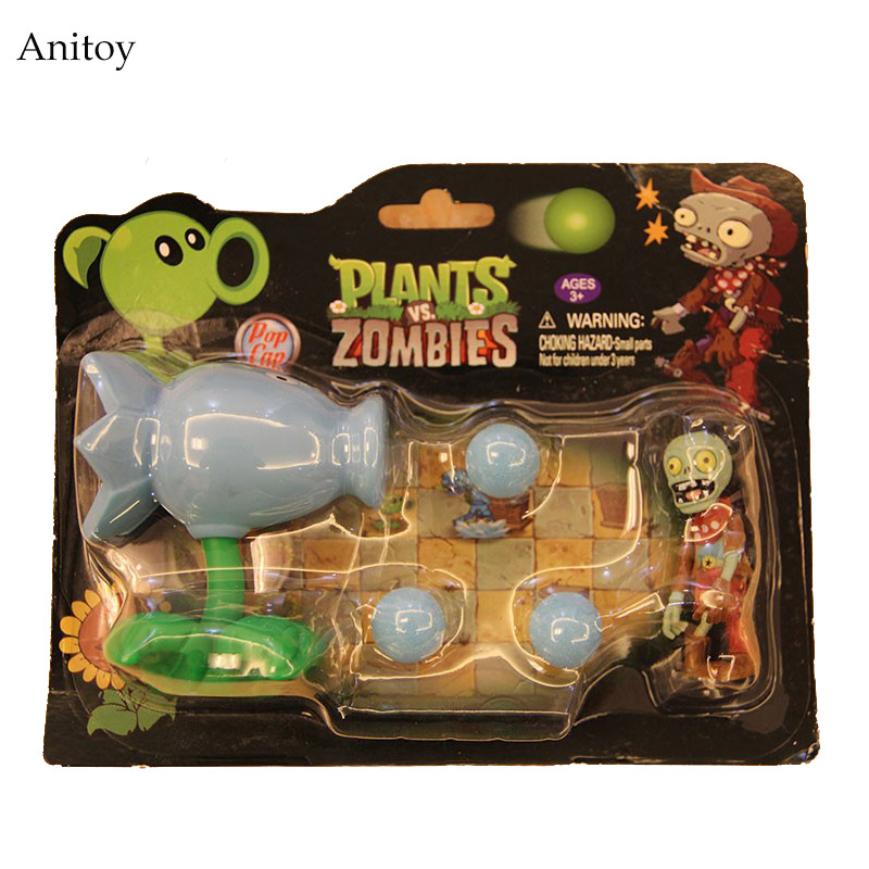 Class Toys PVZ Plants vs Zombies Snow Pea PVC Action Figure Model Toy For Kids Christmas Gifts  3 8cm plants vs zombies action figure toy pvc plants vs zombies figure model toys for children collective brinquedos