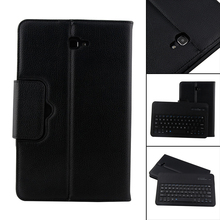 Bluetooth Keyboard Leather Case + Stand Folding Stand Leather Protective Case Cover for Samsung Galaxy Tab A 10.1 T580 T581 T585