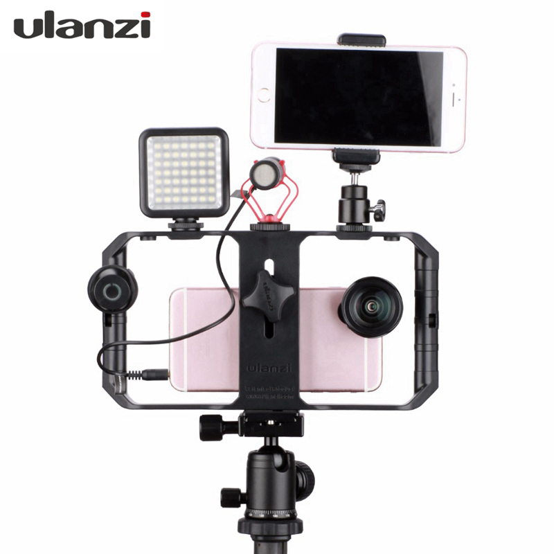 Ulanzi U-Rig Pro Smartphone Video Rig Filmmaking Case Handheld Stabilizer Grip With 3 Shoe Mount For Iphone Video Stabilizer