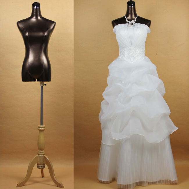 Wedding Gown Display: Half Body Female Mannequin Wedding Dress Display Mannequin